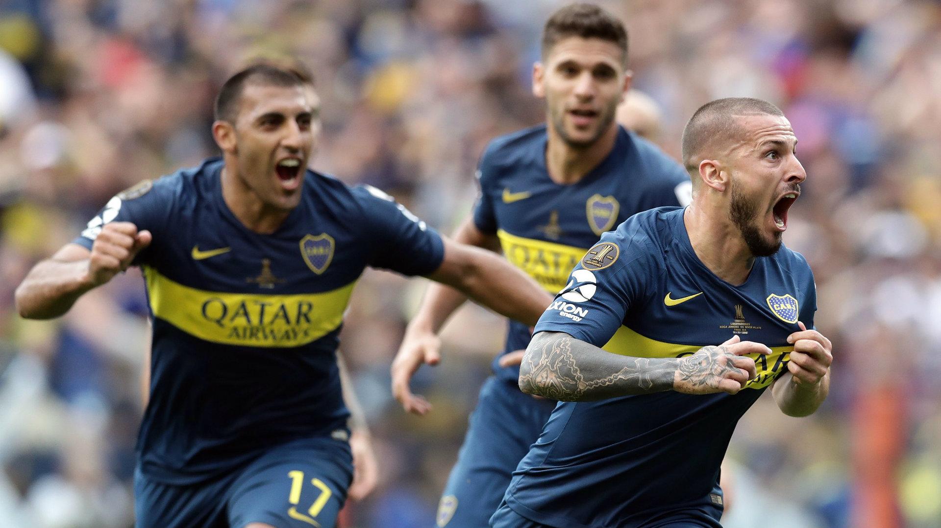 Dario Benedetto Boca Juniors vs River Plate Copa Libertadores final first leg 2018