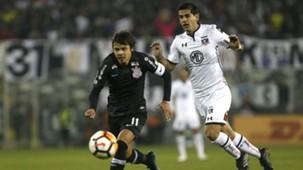 080818 Colo Colo Corinthians Julio Barroso Ángel Romero