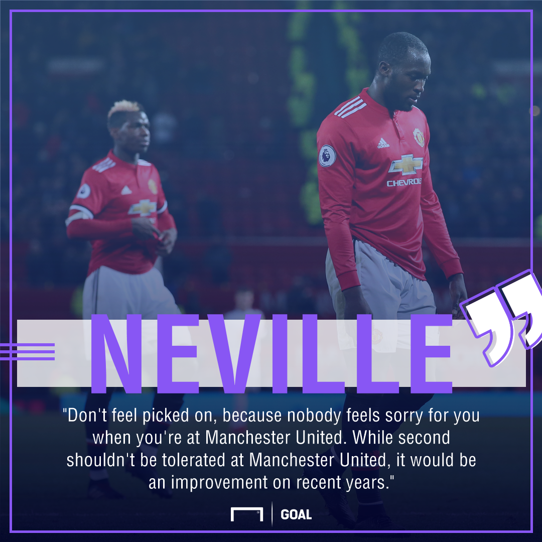 Gary Neville Manchester United second not tolerated