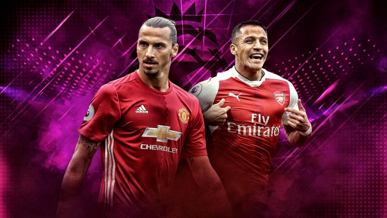 Alexis Sanchez Arsenal Zlatan Ibrahimovic Manchester United