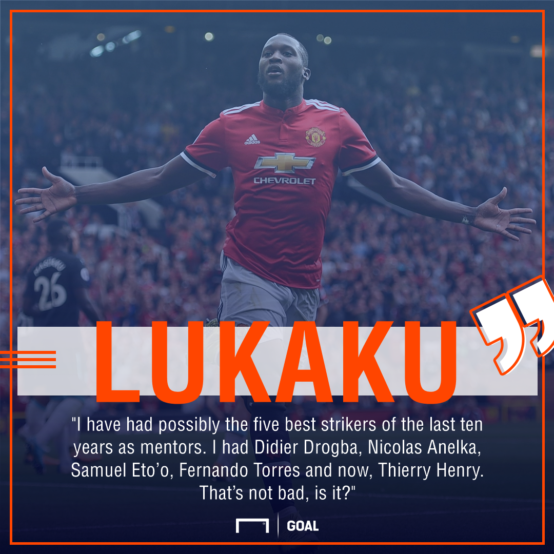 Romelu Lukaku Manchester United mentors Henry Torres Drogba
