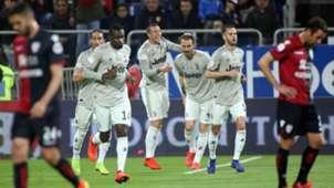 Juventus celebrating goal against Cagliari