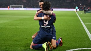 Angel Di Maria Edinson Cavani PSG Nice Ligue 1 27102017