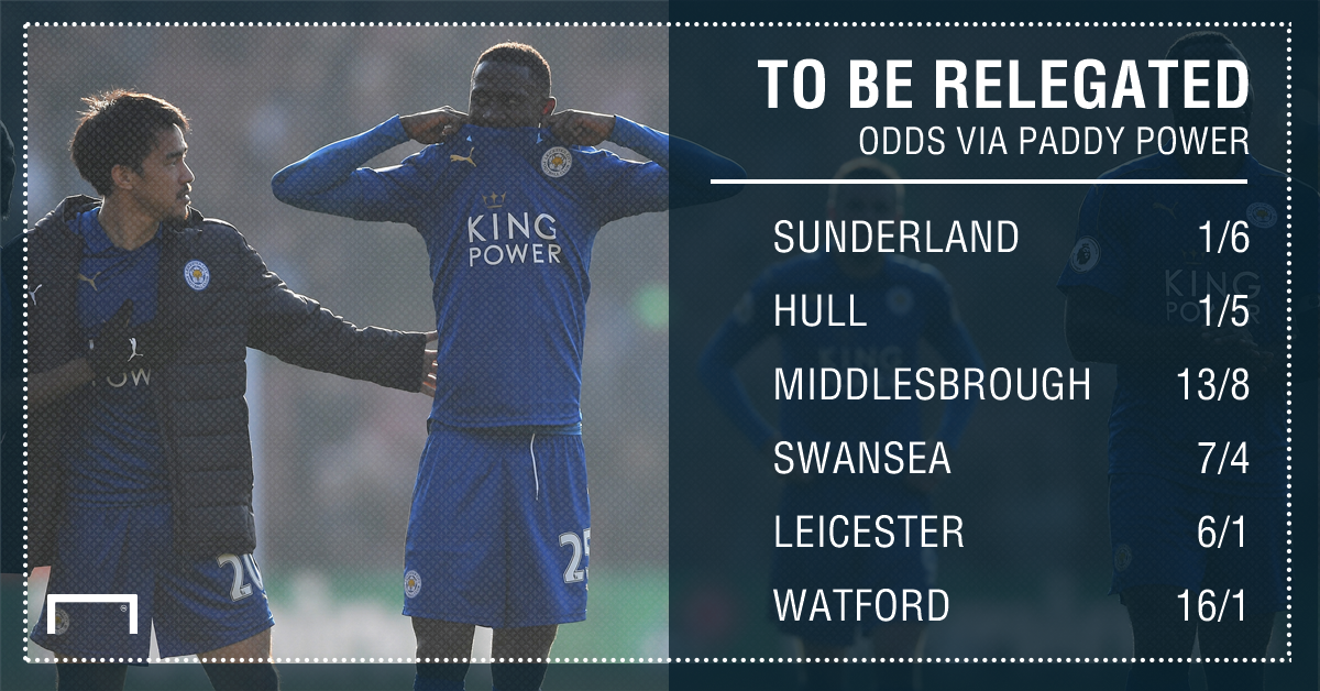 GFX STATS LEICESTER TO BE RELEGATED
