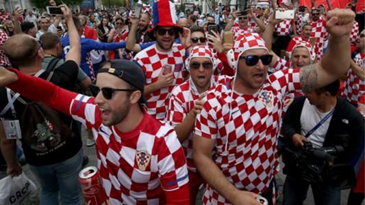 Croatia fans WC Russia 21062018