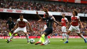 Raheem Sterling shot Arsenal Manchester City Premier League 2018-19