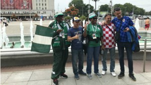 Nigeria and croatia fans World Cup Russia 2018