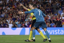 Cristiano Ronaldo referee Real Madrid Barcelona