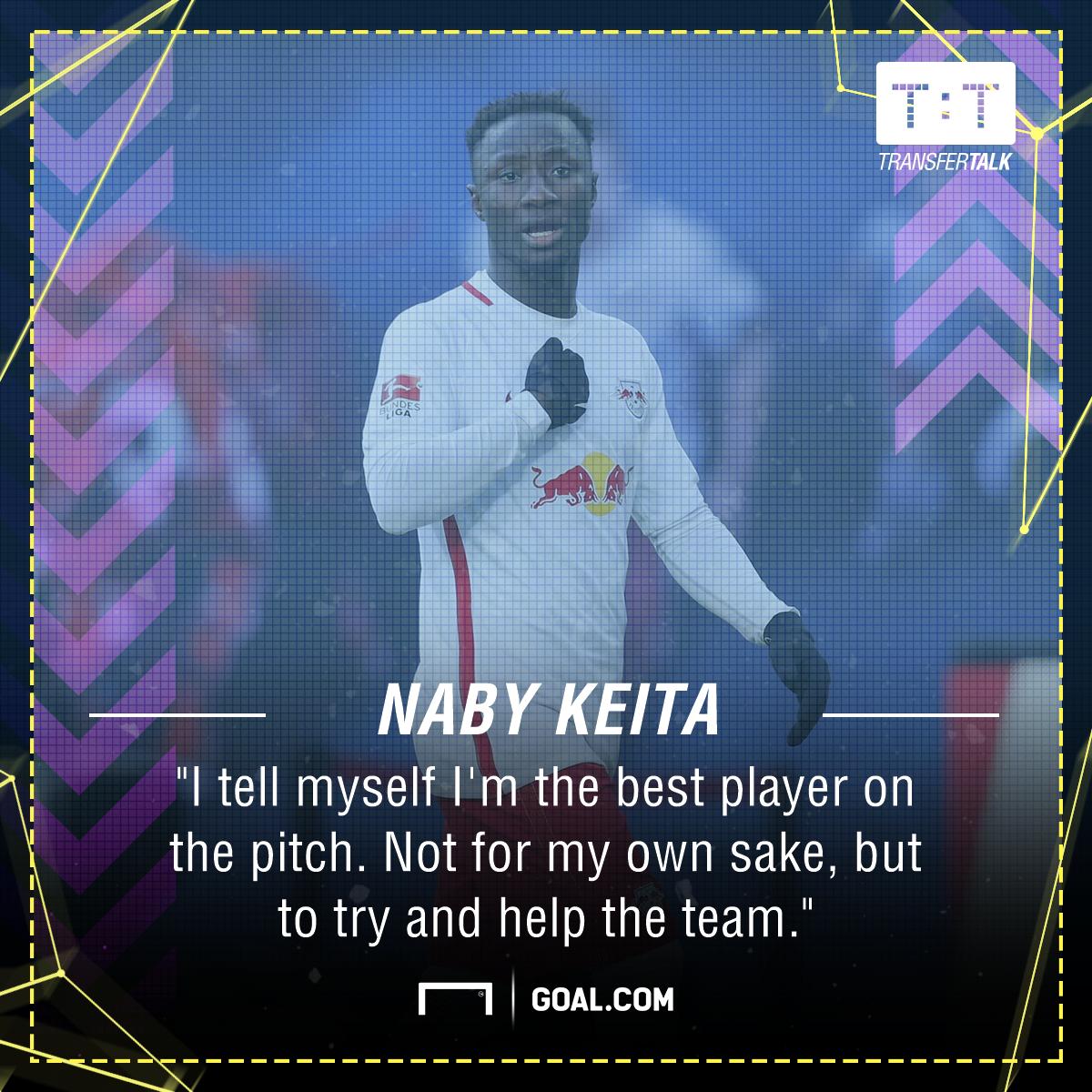 GFX Naby Keita RB Leipzig Quote