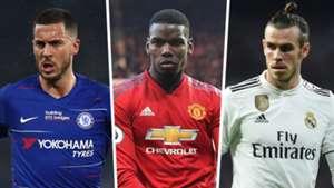 Eden Hazard Paul Pogba Gareth Bale