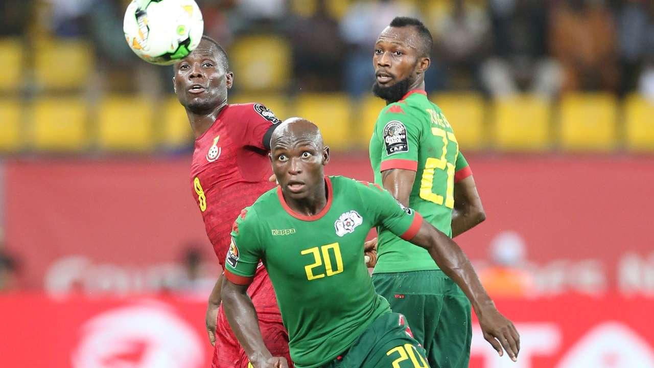 Blati Toure & Yacouba Coulibaly of Burkina Faso, Ghana's Emmanuel Agyemang-Badu