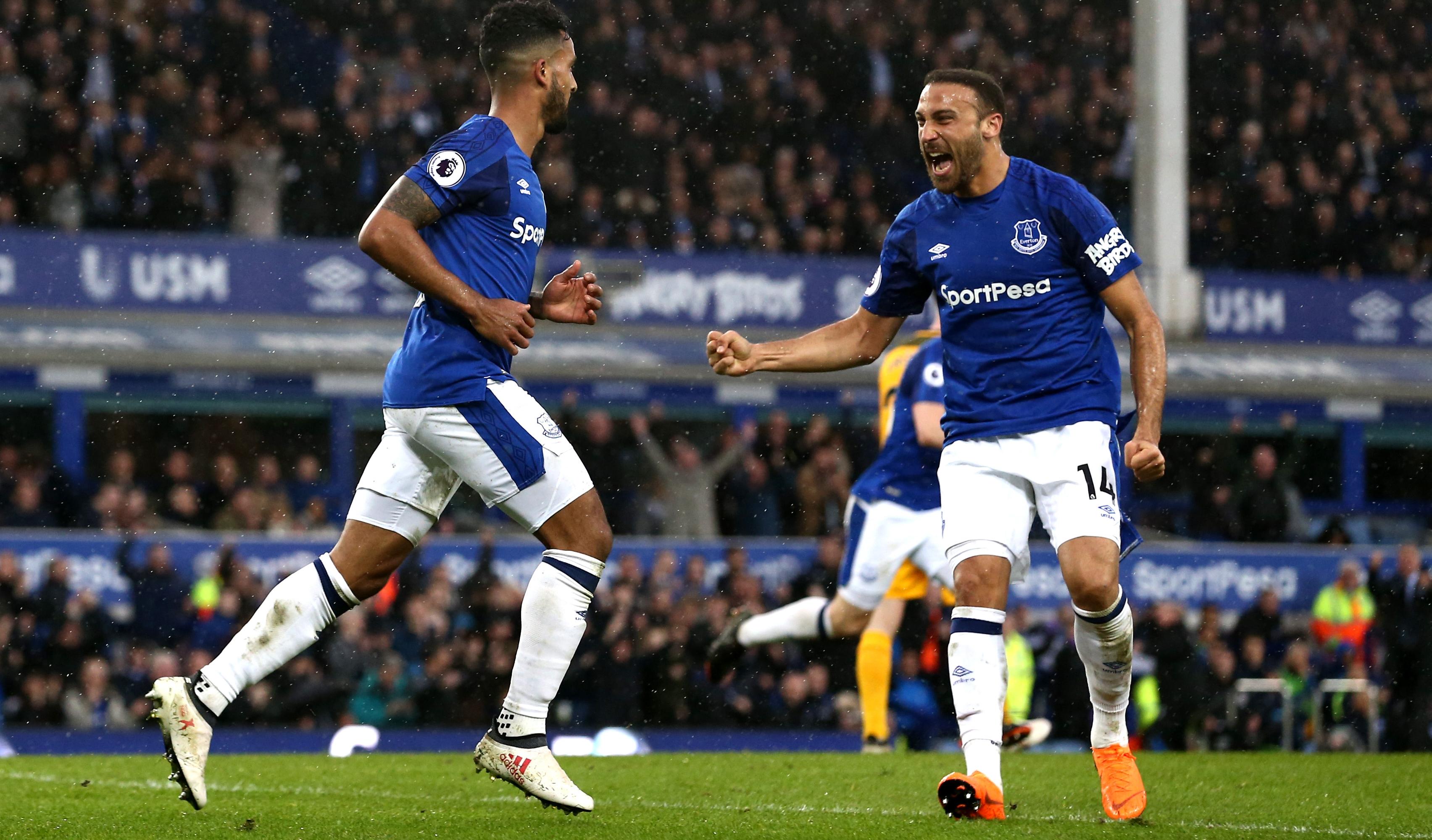 Theo Walcott Cenk Tosun Everton Brighton 03/10/18