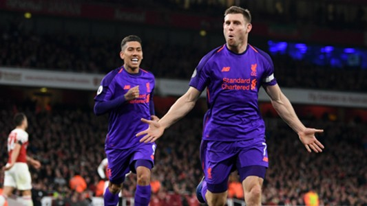 James Milner Liverpool Arsenal Premier League 03112018