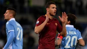 Sergej Milinkovic-Savic Edin Dzeko Lazio Roma Coppa Italia