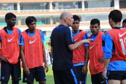 Constantine with Indian team
