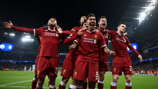 Roberto Firmino, Liverpool celebration vs Man City, Champions League 17/18