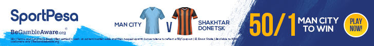 Manchester City Shakhtar SportPesa offer