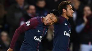 Neymar Kylian Mbappe PSG Celtic UEFA Champions League 22112017