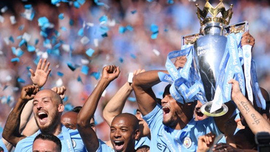 Manchester City Premier League trophy