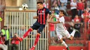 Nicolas Reniero Carlos Araujo Huracan San Lorenzo Superliga Argentina 11032018
