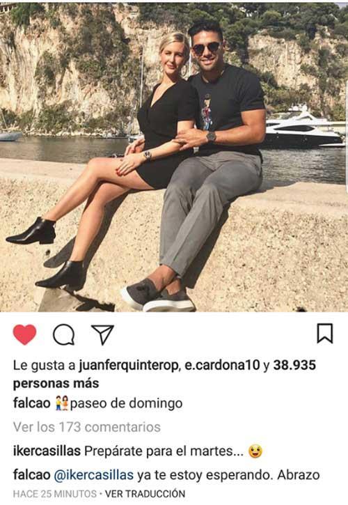 Casillas Challenges Falcao
