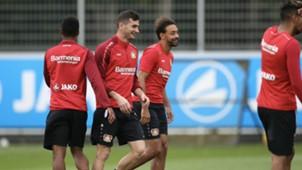 Lucas Alario Karim Bellarabi Bayer Leverkusen 06092017