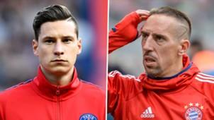 Julian Draxler Franck Ribery composite