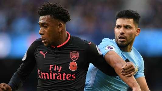 Alex Iwobi Arsenal Sergio Aguero Manchester City