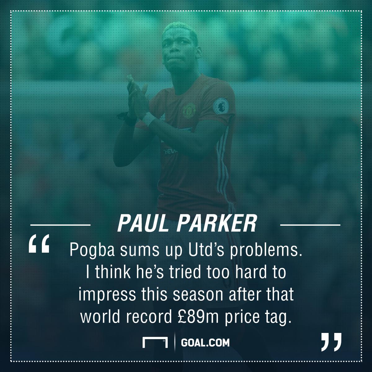 Paul Pogba Paul Parker Manchester United
