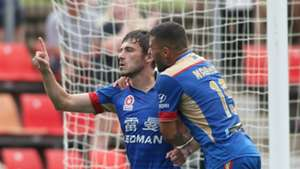 Mateo Poljak Newcastle Jets v Perth Glory A-League 15012017