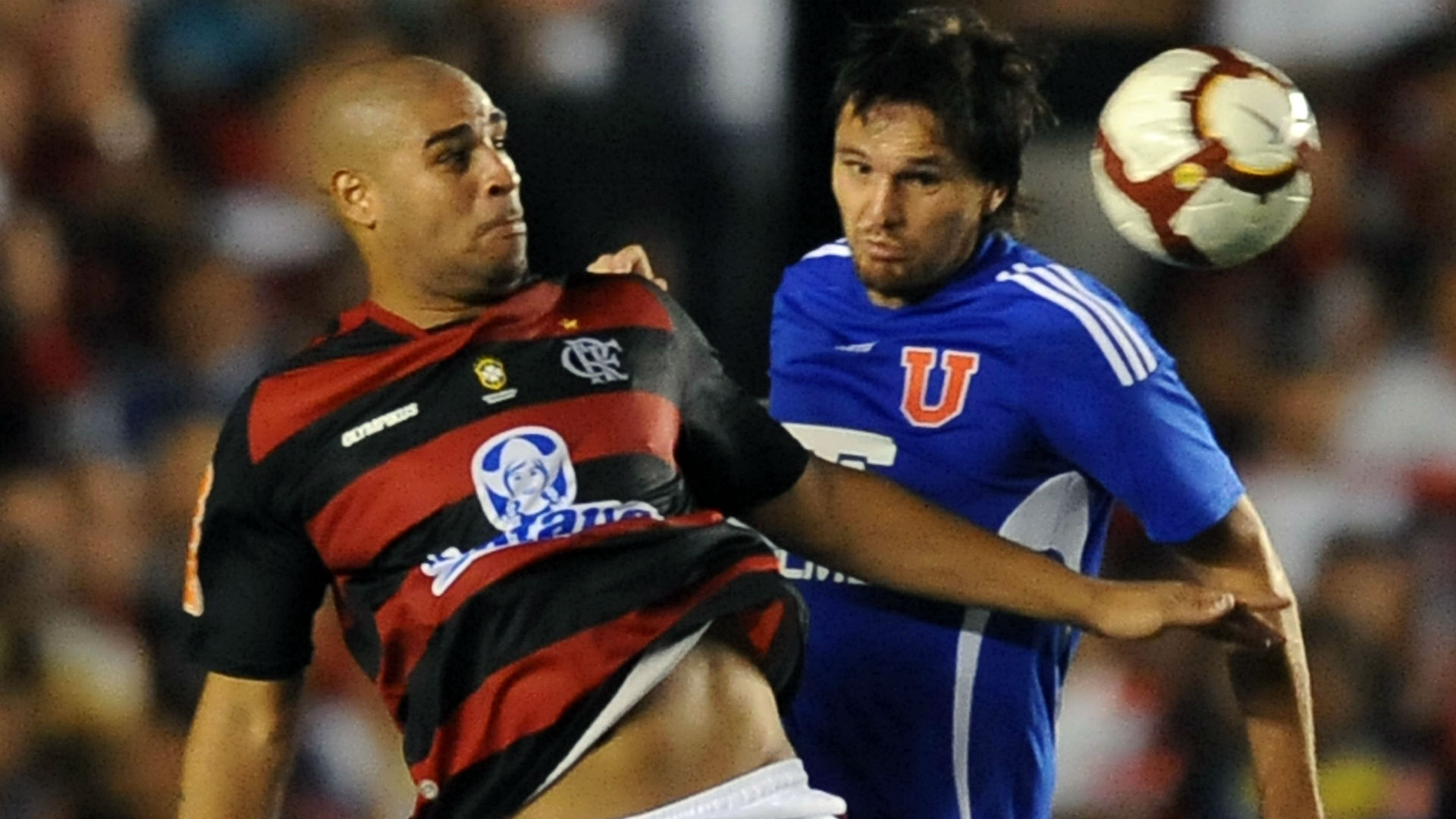 Adriano Flamengo Universidad Chile Libertadores 2010