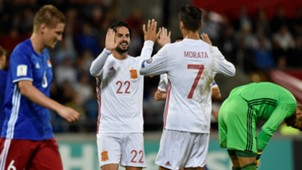 Alvaro Morata Isco Alarcon Liechtenstein Spain WC Qualifiers