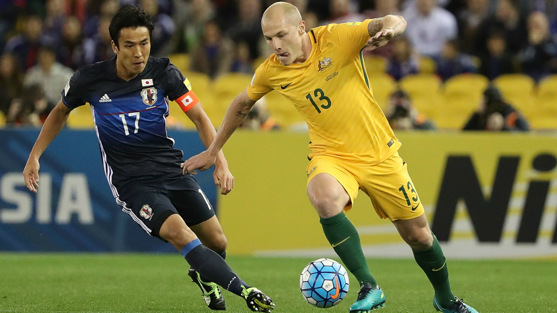 Aaron Mooy Australia v Japan World Cup qualifying 11102016