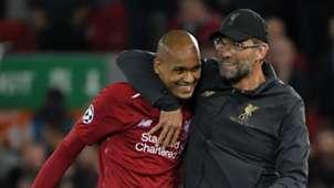 Jurgen Klopp Fabinho Liverpool 2018/19