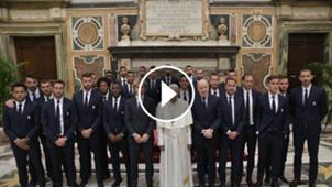 Juventus visita Papa Francisco