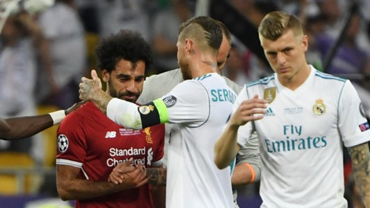 Sergio Ramos Real Madrid Mohamed Salah Liverpool Champions League 2018