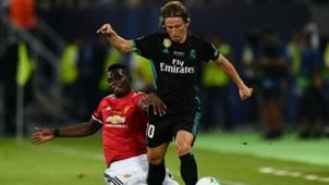luka modric paul pogba - real manchester united - uefa supercup - 08082017