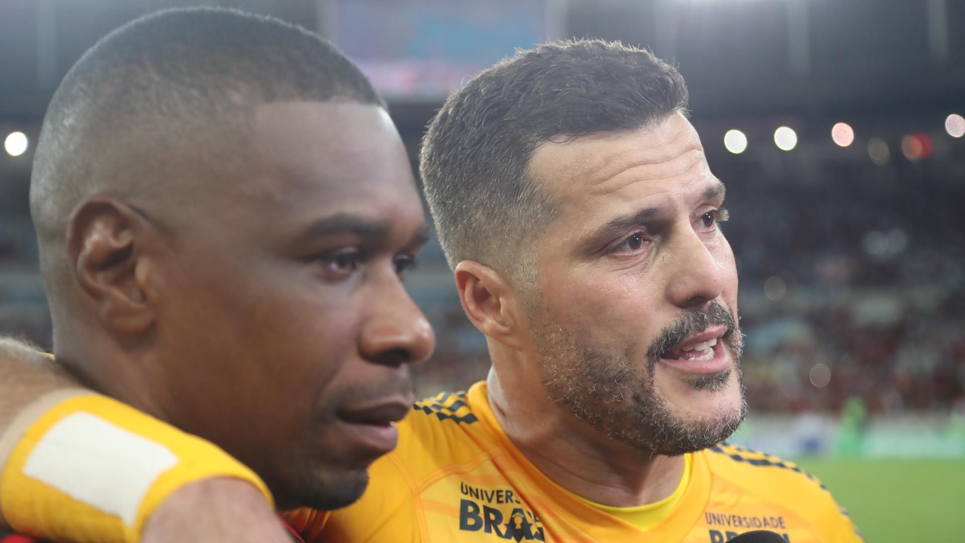 Despedida Julio Cesar Juan Flamengo America-MG 21042018 Brasileirao Serie A