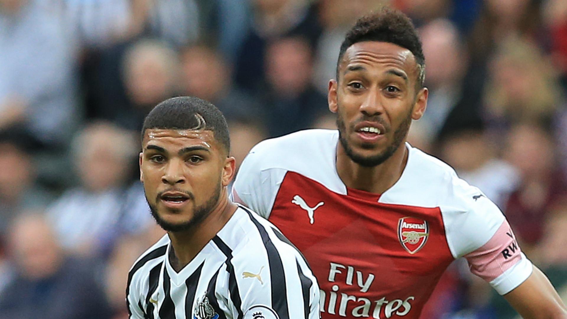 DeAndre Yedlin Pierre-Emerick Aubameyang Newcastle Arsenal 2018-19