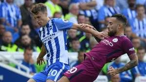 Solly March Nicolas Otamendi Brighton Manchester City