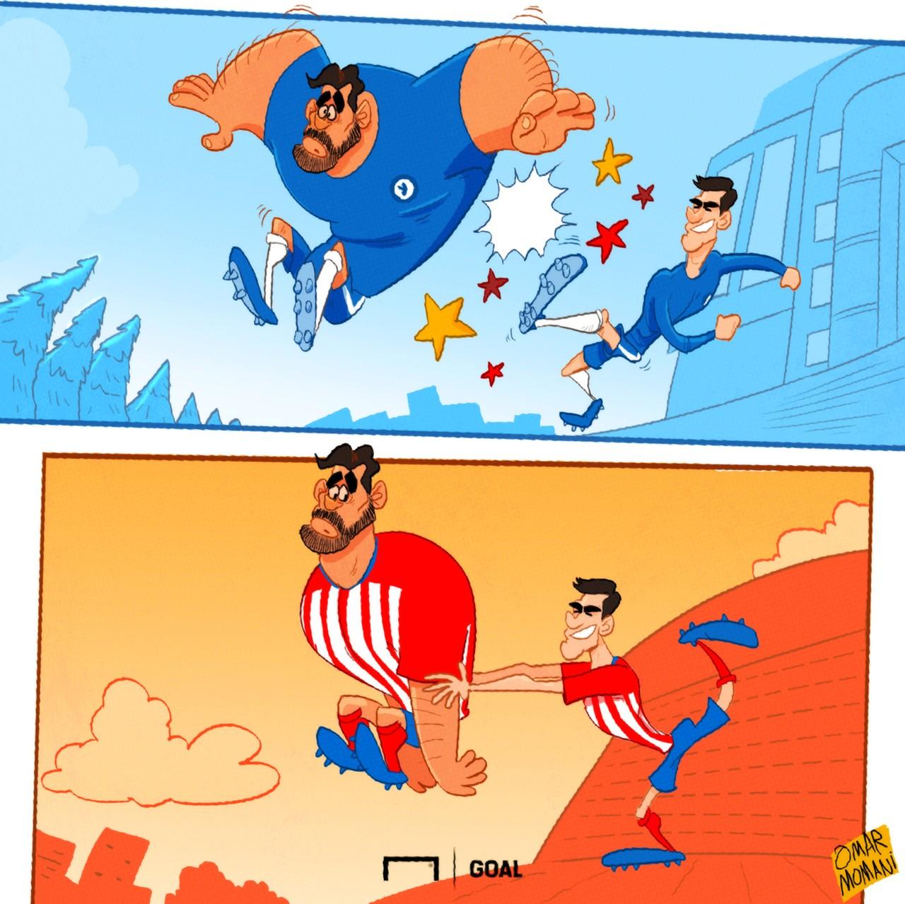 Cartoon Morata Diego Costa - 29012019