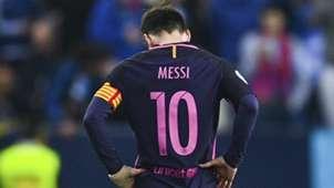 Lionel Messi Malaga Barcelona La Liga