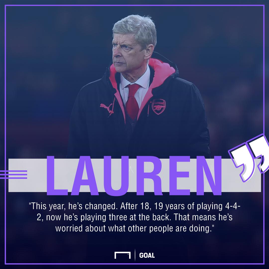 Arsene Wenger Lauren Arsenal fear