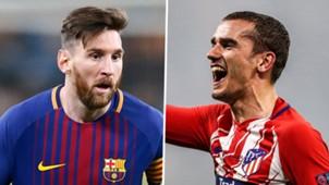 Lionel Messi Antoine Griezmann Barcelona Atletico Madrid 2017-18