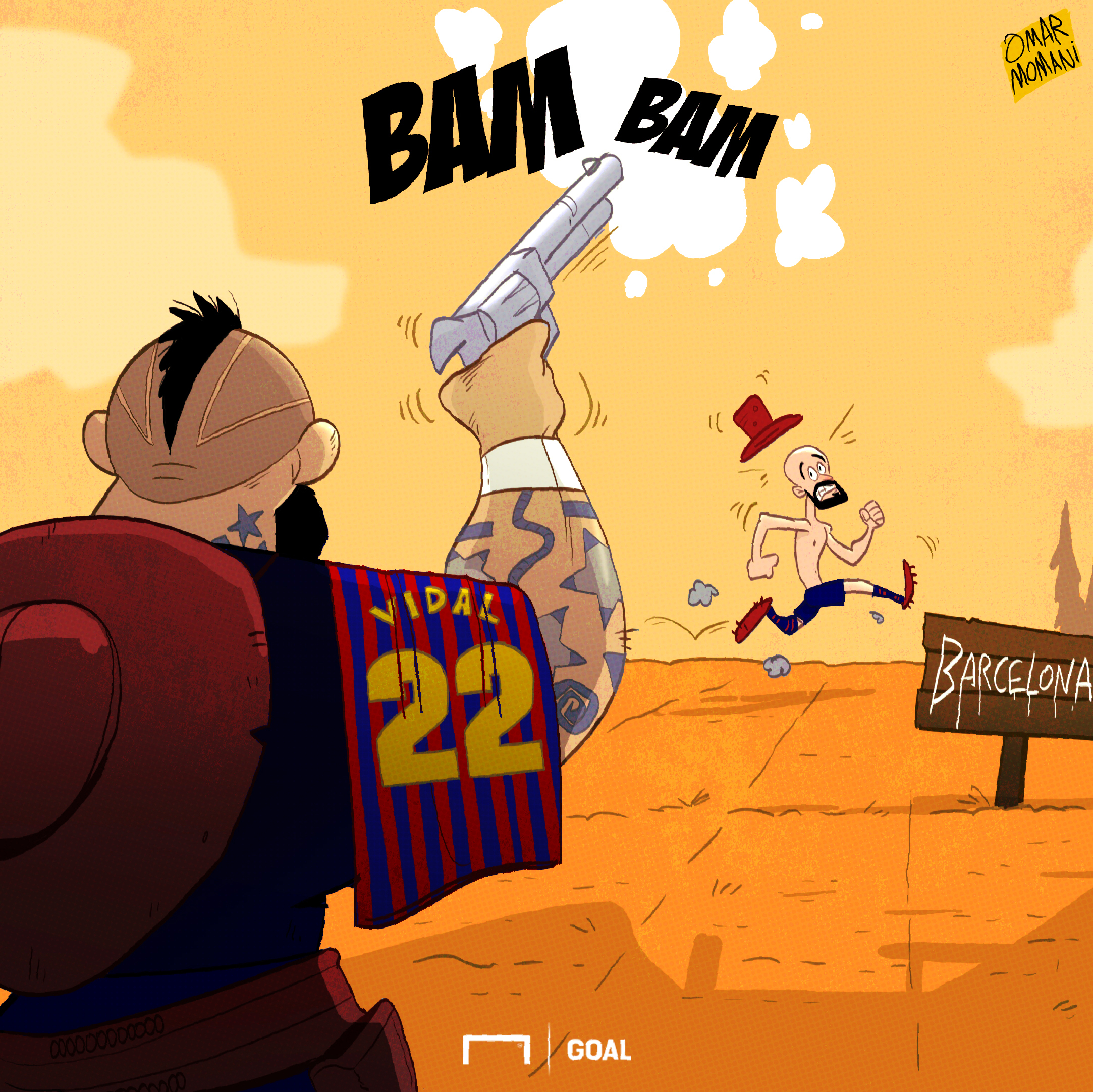 Cartoon Vidal vs Vidal