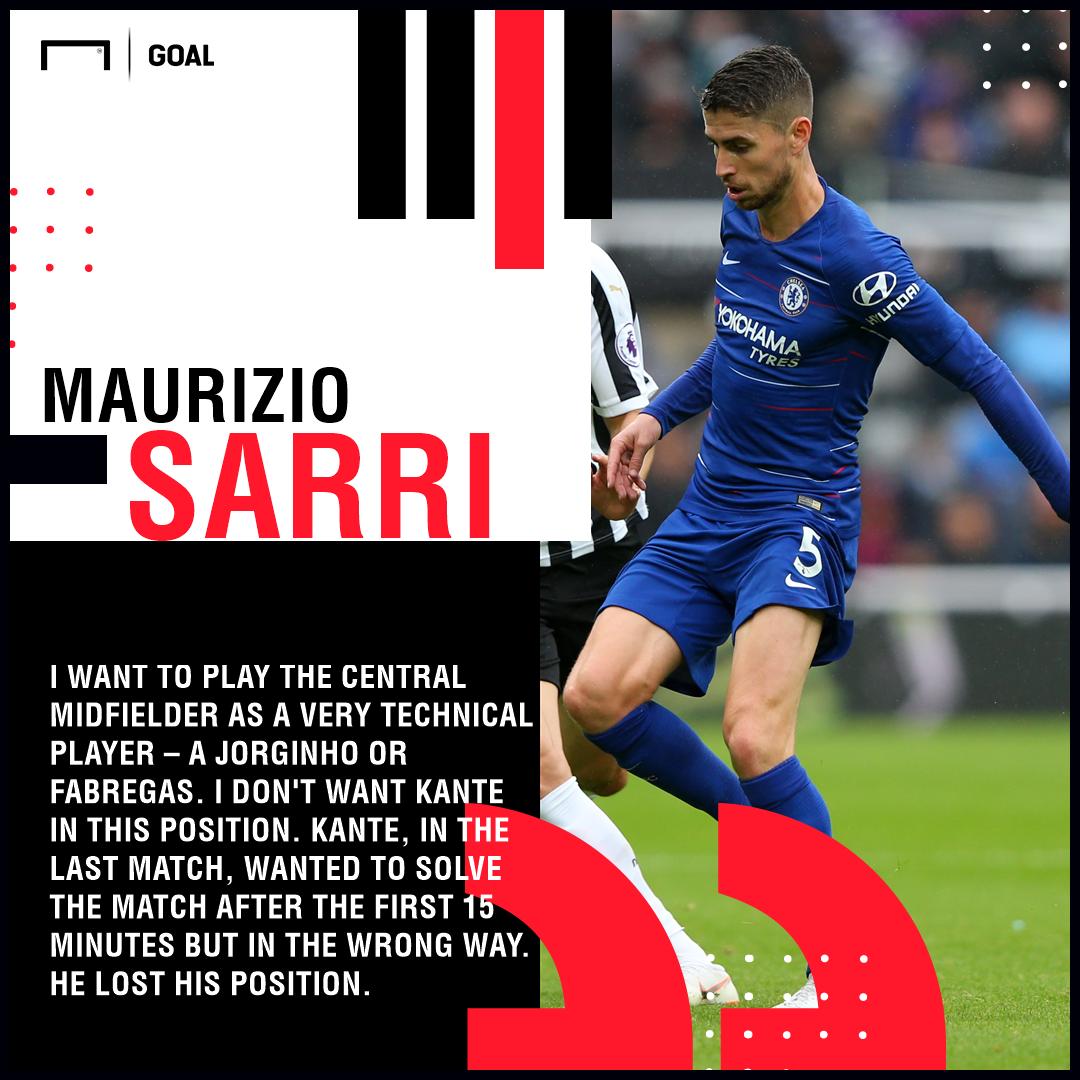 Sarri quote on Jorginho GFX