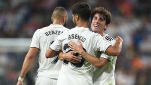 Real Madrid celebrating Real Madrid Espanyol La Liga 09232018