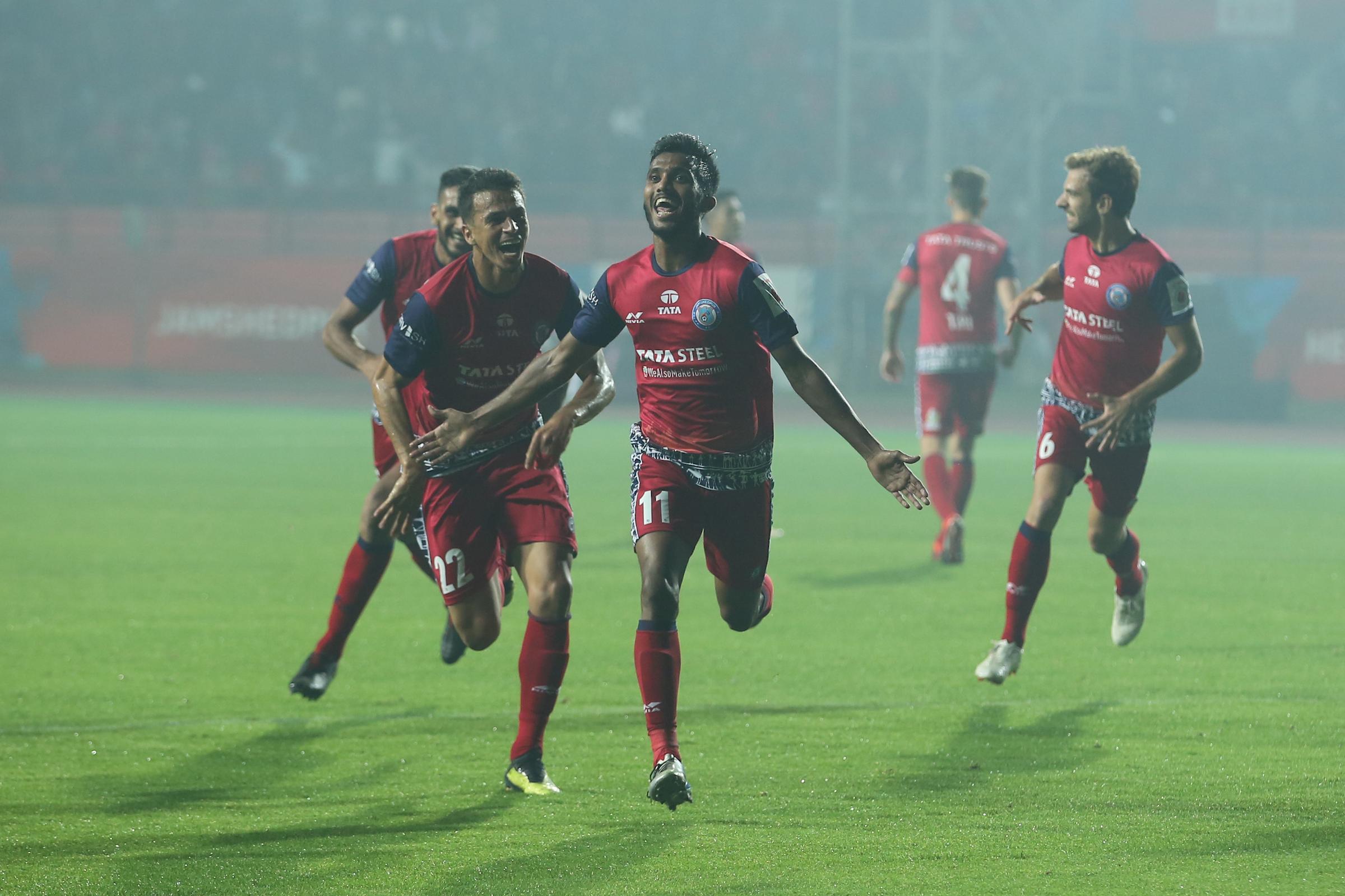 Choudhary Celebrates Jamshedpur Delhi ISL