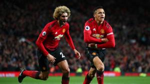Alexis Sanchez Marouane Fellaini Manchester United Newcastle Premier League 2018-19