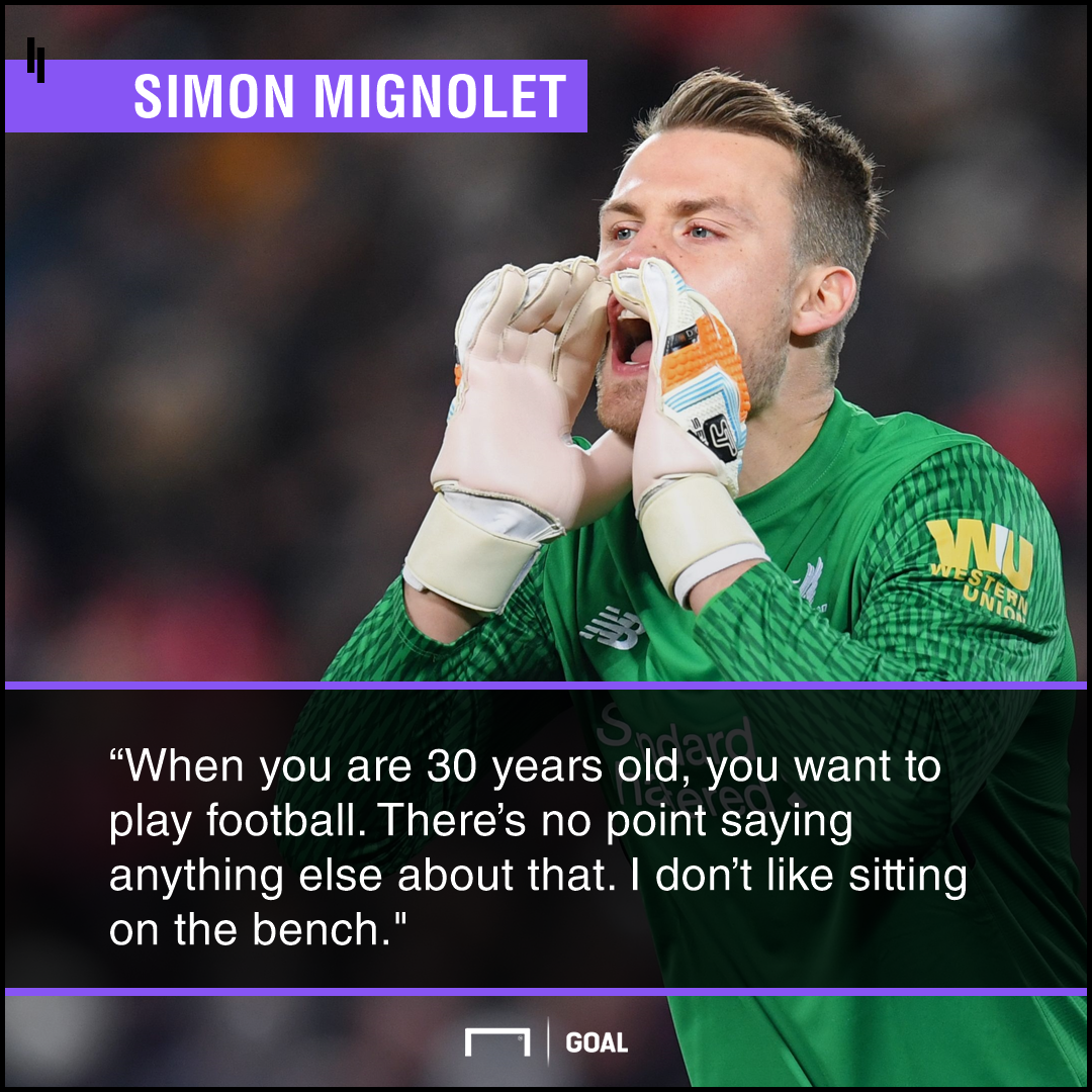 Simon Mignolet on his Liverpool situation